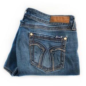SEVEN7 | Plus Size Crop Capri Jeans
